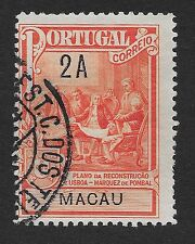 MACAU;  1925 Tax for Marquis of Pombal Monument 2A Cinnabar/Black Used (BX)