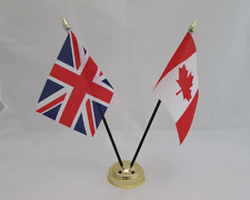 CANADA & UNITED KINGDOM FRIENDSHIP TABLE FLAG