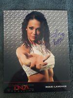 Roxxi Laveaux Autographed Wrestling Photo Highspots COA WWF WWE NWA AEW Impact