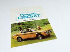 1973 Plymouth Cricket Brochure