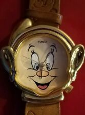 RARE Timex Disney Licensed Snow White Happy the Dwarf Metal Watch-New Battery