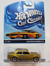 HOT WHEELS COOL CLASSICS - SPECTRAFROST #27/30 DATSUN BLUEBIRD 510 ORANGE CARD