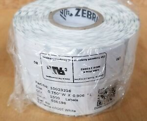 "Zebra Technologies 10023236 Z-Extreme 4000T 0.75"" x 0.9"" Thermal Transfer Polyes"