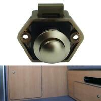 Push Button Catch Lock Drawer Cupboard Door Motorhome Caravan Cabinet Latch Knob