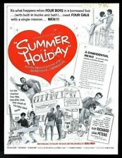 1963 Cliff Richard The Shadows photo Summer Holiday scarce movie trade ad