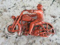 VINTAGE HUBLEY CAST IRON HARLEY DAVIDSON MOTORCYCLE SWIVEL HEAD