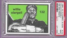 1984-91 OCONNELL WILLIE STARGELL PIRATE INK MINI PRINT 132 SON GRADED PSA 9 MINT