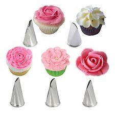 5 Pcs/Set Rose Cake Decorating Tips Pastry Cream Petal Icing Piping Nozzles