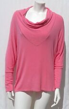 SUNDAY USA Women's Pink Super Soft Cowl Neck Batwing Shirt Top size M EUC