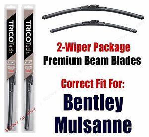 Wipers 2-Pack Premium Beam Wiper Blades fits 2013+ Bentley Mulsanne - 19240/210