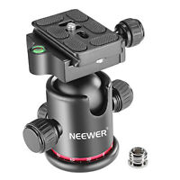 """Neewer Panoramic Tripod Ball Head with 1/4"""" Quick Shoe Plate and Bubble Level"""
