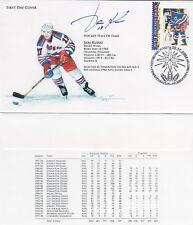 Icehockey NHL Finland Jari Kurri New York Rangers Finland Hand Made FDC 2004 SIG