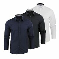 Brave Soul Tudor Mens Shirt Long Sleeve Collared Casual Top