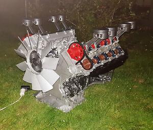 Jaguar V8 Motor Motortisch Coffee Table Couchtisch Motorblock Tisch V12 V10