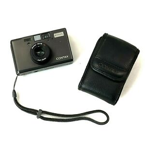 CONTAX T3 Black Double Teeth Point & Shoot Film Camera Carl Zeiss - Exc- TK02F