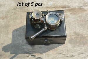 Vintage Brass Antique style Binocular Marine Compass Nautical Gift lot of 5 pcs