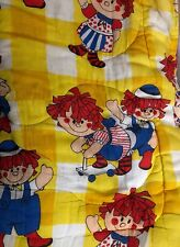 Vtg 1970s RAGGEDY ANN & ANDY Youth Child Sleeping Bag Bedding 72 x 32