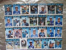 BLUE JAYS 5 TOPPS TEAM SETS 1986 1987 1988 1989 1990 CARDS Cecil Fielder rookie