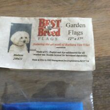 Maltese Dog Breed Garden Flag 12x17 New Made In Usa