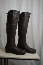 Womens Alberto Fermani Brown Metro Leather Knee High Tall Boots womens sz 6 $598