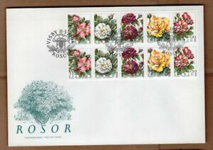 Sweden 1994 flowers roses FDC
