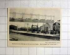1952 Reinforced Concrete Footbridge Over Railway Line Etaples, Window Boxes