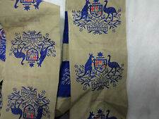 #D44.  UNCUT STRIP OF 13  AUSTRALIAN ARMY COAT OF ARMS CLOTH PATCHES