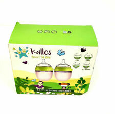 New listing Kallos Natural Baby Bottles Silicone Soft Bottle - Green (2 Count) 5 Oz. Each