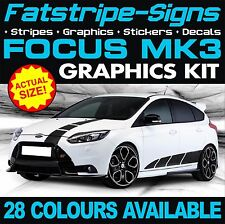 FORD FOCUS ST Mk3 GRAPHICS DECALS STRIPES STICKERS 1.6 2.0 2.5 RS TURBO ALLOYS