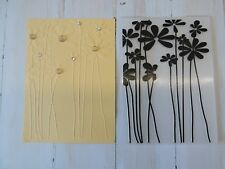 Embossing Folder -  Flowers with Stems