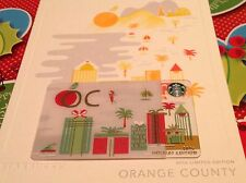 "STARBUCKS GIFT CARD ""ORANGE COUNTY"" 2016 HOLIDAY EDITION "" NO $ VALUE"