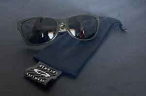 Used Oakley Jupiter LX Sunglasses Olive Green/Dark Grey 03-286 Great Condition