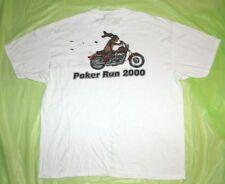 Poker Run 2000 Harley Davidson Dog Sioux Falls Area XL White T shirt XLarge Vtg
