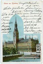 Postcard - Germany, Grus aus Hamburg, Rathaus - 1900