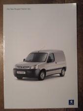 PEUGEOT PARTNER VAN orig 2003 UK Mkt Sales Brochure