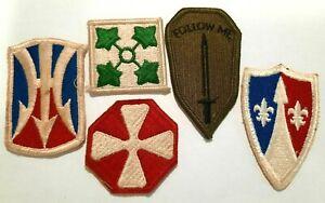 USA Lot de 5 patchs