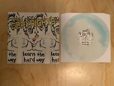 The Copyrights- Learn The Hard Way In White/Light Blue Vinyl In Good Condition