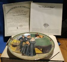 American Dream Collectors Plates #7 An Orphan's Hope