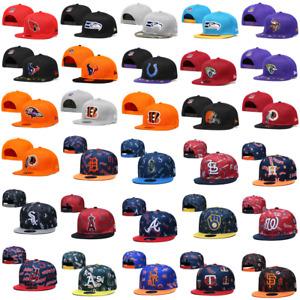 Fashion Flat Brim Embroidered NFL All Teams Snapback Cap Hip Hop Sports Sun Hat