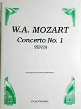 "W.A.Mozart - ""Concerto No.1"", For Flute Solo & Piano Accompaniment"