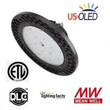 250W LED Dimmable High Bay UFO Light,Lumileds,MeanWell,29750lm,ETL/DLC,IP65