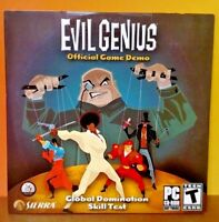 BRAND NEW SEALED Evil Genius Sierra  - Demo Disc PC DVD-Rom Software