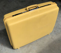 "Vintage Samsonite Concord Suitcase Yellow 26"" X 20"" x 7"" With Wheels *NO KEY *"