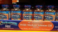 Pure Alaska Omega 3 1000 mg 100% Natural Wild ALASKAN SALMON OIL 180 Softgels