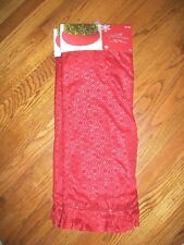 "Jaclyn Smith Christmas Red Tree Skirt Christmas Tidings 52"" Brand New"