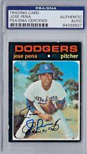 Jose Pena Signed 1971 Topps #693 Los Angeles Dodgers PSA Autographed