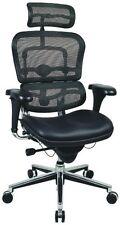 Ergohuman Raynor LEM4ERG Ergonomic High Back Office Chair Mesh/Leather Headrest