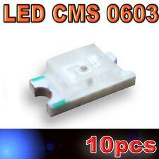 130/10# LED CMS 0603 bleu -160mcd -SMD blue - 10pcs