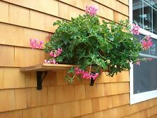 SHELF BRACKETS for PATIO or DECK SHINGLED WALLS. Hang plants or BBQ Tools