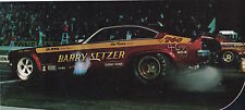 1972 VEGA FUNNY CAR / BARRY SETZER  ~ ORIG SMALLER MAGAZINE PHOTO / PICTURE / AD